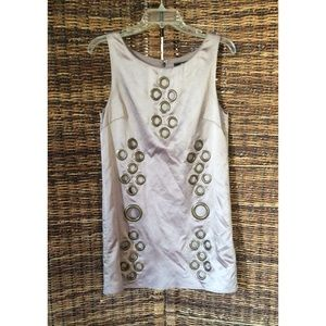 NY Designer - Taupe Shift Dress - Medium